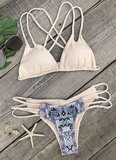 Shop the latest You Got It Strappy Bikini for a breezy printing look and find styling inspirations from strappy detailing and tie design ! Cheer up now in tasteful color.