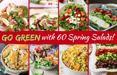 If spring had an official food, it would have to be salad. If you still think of salad as boring, we have 60 exciting reasons to adjust your expectations! Heart Healthy Recipes, Clean Recipes, Real Food Recipes, Yummy Recipes, Healthy Cooking, Healthy Eating, Paleo Food, Healthy Lunches, Types Of Salad