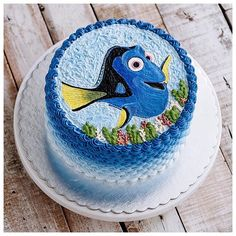 When you love what you do and you do what you love. Dory hand painted buttercream cake