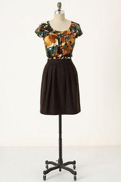 Tweedy Leaves Dress #anthropologie Tabitha