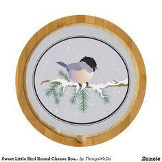 Sweet Little Bird Round Cheese Board