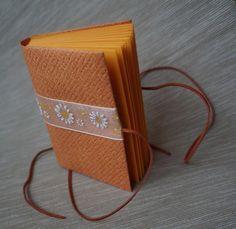 "handmade bookbinding / diary / Deníček \""pomeranč\"""