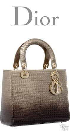 Brilliant Luxury * Dior Autumn 2016 ~ Lady Dior bag in gold-tone and Ebony graded metallic calfskin with microcannage motif