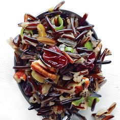 This wild rice side dish goes well with roasted chicken, turkey, or braised pork shoulder.