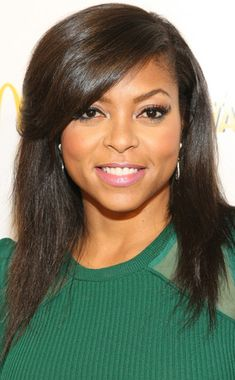 Gorgeous! Taraji P. Henson's look screams summer with two-tone eye liner and bubble gum pink lips.