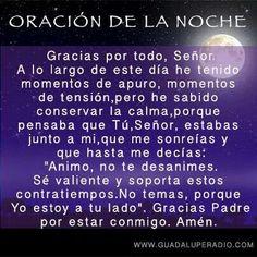 Oración Catholic Religion, Beautiful Prayers, Healing Words, Thank You Lord, Catholic Prayers, Keep The Faith, Positive Mind, Spanish Quotes, Dear God
