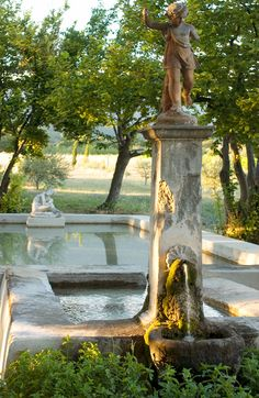 Another pool at Provence Provence France, Garden Fountains, Water Fountains, Mediterranean Garden, French Countryside, Parcs, Water Features, Garden Inspiration, Beautiful Gardens