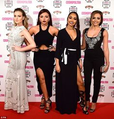 """ Perrie Edwards, Jesy Nelson, Leigh-Anne Pinnock and Jade Thirlwall of Little Mix attend the Cosmopolitan Ultimate Women of the Year Awards at One Mayfair "" Little Mix Outfits, Little Mix Jesy, Little Mix Style, Cute Outfits, Jesy Nelson, Perrie Edwards, Litte Mix, Embellished Gown, Mixed Girls"