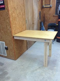 Man I have to do this!!! DIY Fold Down Workbench