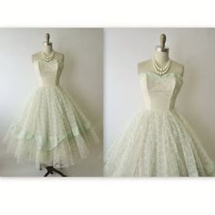 50's Prom Dress // Vintage 1950's Strapless by TheVintageStudio, $186.00