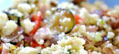 Couscous salade met geroosterde groenten en kip