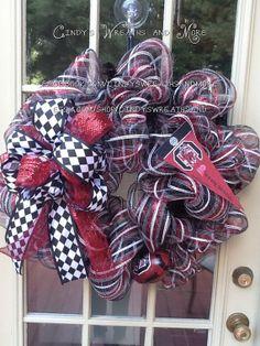South Carolina Gamecock Wreath Carolina USC by Cindyswreathsand, $75.00