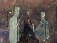 Leonora Carrington (1917–2011), Operation Wednesday, 1969 (Tempera on masonite)