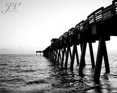 Beach Landscape Photography Venice Florida Sharky's by DesignByJV
