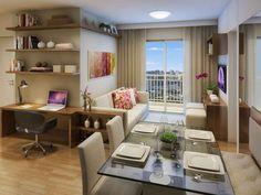 Inspire-se com Ideias de Decoração para apartamento pequeno, kitnet e lofts. Soluções párticas e Criativas com decorações incríveis!