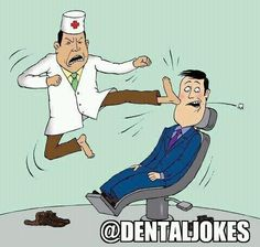 Well, that's one way to do it... #dental #humor