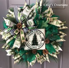 This beauty combines the black and white with the metallic evergreen in this Farm Fresh Christmas Tree Wreath for your home or front door. Now available in my Etsy shop. Fresh Christmas Trees, Christmas Tree Wreath, Christmas Tree Themes, Holiday Wreaths, White Christmas, Winter Wreaths, Christmas Stuff, Christmas Time, Christmas Ideas