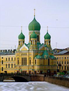 St Petersburg ~ Cathedral of Christ the Savior (Khram Khrista Spasitelya) at the intersection of Haberezhnaya kanala Griboyedov and Mogilevskiy moct.