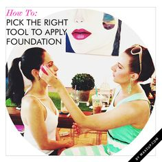 the right tool to use for every foundation type // never knew this!