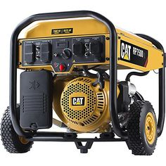 Cat Gas Powered Portable Generator with Electric Start - 7500 Running Starting Watts CARB Compliant Gas Generator, Portable Generator, Power Generator, Solar Panels For Home, Best Solar Panels, Solar Panel System, Panel Systems, Solar Energy, Solar Power