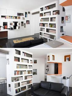 "Helpful ""Library"" Loft Condo by H20 Architects"