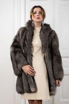 PELLICCIA VOLPE FOX FUR COAT PELISSE FOURRURE RENARD Fuchspelzmantel ABRIGO PIEL