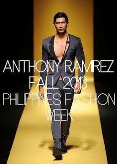 Male Fashion Trends: Anthony Ramírez Fall/Winter 2013 - Filipinas Fashion Week