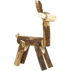 A rustic addition to your wintery console vignette or holiday mantel display, this charming decor is crafted from wood and showcases a deer design. Driftwood Projects, Wooden Pallet Projects, Wooden Pallets, Projects For Kids, Craft Projects, Deer Decor, Deer Design, Wooden Animals, Wishing Well