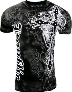 6f055684 Amazon.com: Konflic Men's All Over Print MMA Style Short Sleeve T-Shirts -  T767WH-S: Clothing