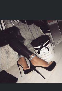 Stiletto bling anklet heels