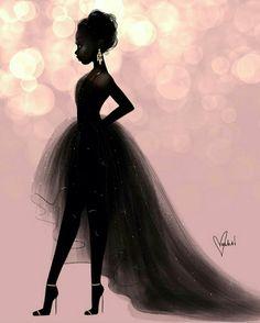 Super Ideas For African American Black Art Inspiration Art Black Love, Black Girl Art, Black Is Beautiful, Art Girl, Black Girl Magic, Black Girls Drawing, Pretty Black Girls, Beautiful Gowns, Pink Black