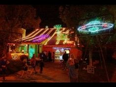 Video: The Biggest Pinball Light Show Ever! Effects play all over the house! -- A friend of mine with a bit of an obsessive streak…although we all benefit from it! (LAUGH). Ric outdoes himself every year with his Halloween and Christmas light shows.