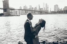 a little laughter and lots of love. That is the key to our happiness.  Engagement Photos in Dumbo, Brooklyn.  Black and White Photography  Engagement Shoot for Courtney Webb and Ryan Spencer