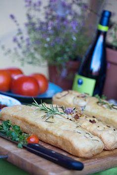 oil, bread and tomato