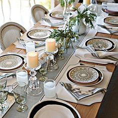 Dinner party table setting Inspiration -- Serena and Lily