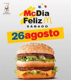 Chegou o grande dia! Compre seu #BigMac em qualquer um dos 130 restaurantes McDonalds no Estado do Rio de Janeiro e colabore!  #CadaBigMacConta #TransformeBigMacEmSorrisos #CasaRonaldRJ #PeçaBigMaceAjude #McDiaFeliz