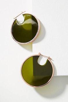 Eclipse Filled Hoop Earrings