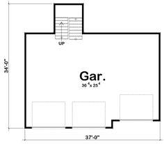 Garage Plan chp-50436 at COOLhouseplans.com