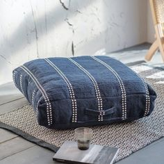 Whichford Floor Cushion Large Floor Cushions, Woven Chair, Large Furniture, Home Accessories, Garden Parties, Ink, Flooring, Picnics, Picnic