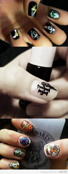harry potter nails!!!!