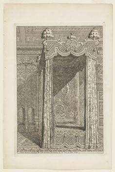 "Print, ""Design for State Bedchamber, in Second Livre d'Appartement (Second Book on Interiors)"", ca. 1700"