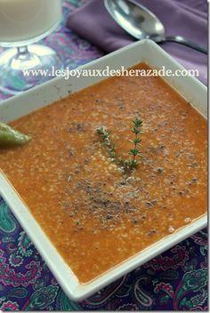 soupe à la semoule d'orge et au thym, tchicha zaatar