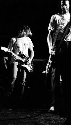 Kurt Cobain and Krist Novoselic on stage #Nirvana