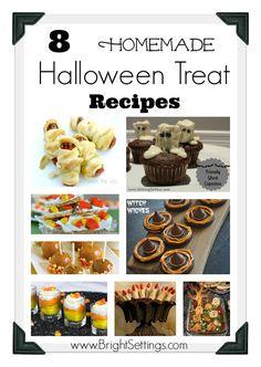 EASY HALLOWEEN TREATS RECIPES | are 8 Homemade Halloween Treat Recipes to make for your next Halloween ...