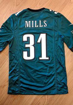6aed2f42e Jalen Mills Nike Philadelphia Eagles Mens Midnight Green 2018 Home Football  Jersey