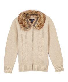 Linen Sweater & Removable Collar - Girls