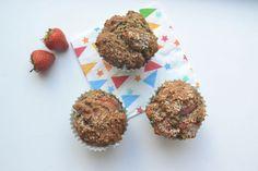 Suikervrije Muffins met Haver en Aardbei