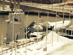 Submarine Growler during the #Blizzardof2015 in January 2015.