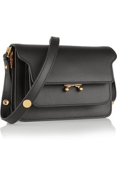 Marni Trunk mini leather shoulder bag NET-A-PORTER.COM