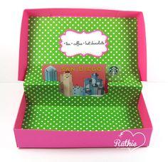 Latinas Arts and Crafts: Tutorial # 17 Caja para gift card